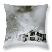 Tengboche Monastery In The Himalaya Throw Pillow