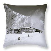 Tengboche Monastery In The Himalayas Throw Pillow