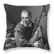 Teniers: The Bagpiper Throw Pillow