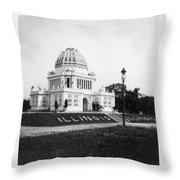 Tennessee Centennial In Nashville - Illinois Building - C 1897 Throw Pillow