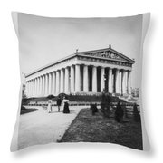 Tennessee Centennial In Nashville - The Parthenon - C 1897 Throw Pillow