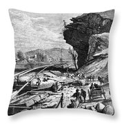 Tennessee: Chattanooga Throw Pillow