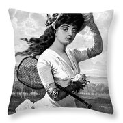 Tennis, 1887 Throw Pillow