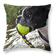Tennis Ball Mist Throw Pillow
