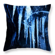 Tentacles Of Ice Throw Pillow