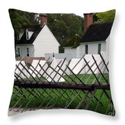 Tenting On The Green Throw Pillow