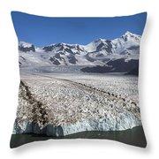Terminal Moraine Of Nordenskjold Throw Pillow