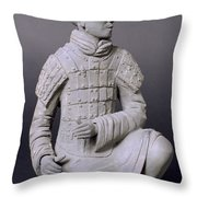 Terracotta Warrior  Throw Pillow