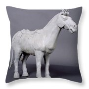 Terracotta Horse Throw Pillow