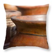 Terracotta Mexican Pottery Throw Pillow