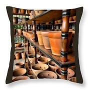 Terracotta Ranks Throw Pillow