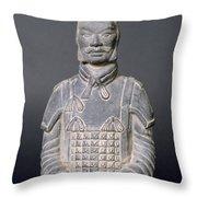 Terracotta Warrior Soldier Throw Pillow