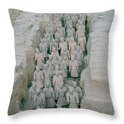 Terracotta Warriors In Xian In China Throw Pillow