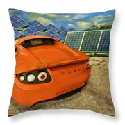 Tesla Car Throw Pillow