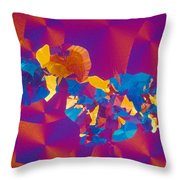 Testosterone Crystal Throw Pillow