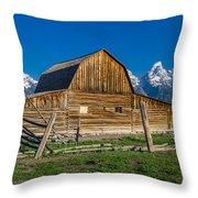 Teton Barn Throw Pillow