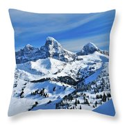 Teton Winter Throw Pillow