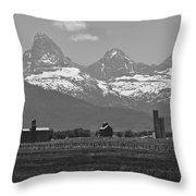 Tetonia Grain Elevators Throw Pillow