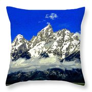 Tetons Throw Pillow