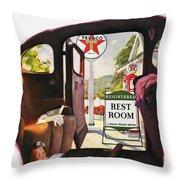 Texaco Advertisement, 1938 Throw Pillow
