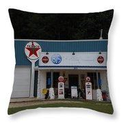 Texaco Gas Station Throw Pillow