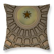 Texas Capitol Star Throw Pillow