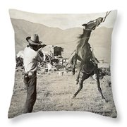 Texas: Cowboy, C1910 Throw Pillow