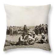 Texas: Cowboys, C1906 Throw Pillow