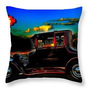 Texas Hot Rod Throw Pillow