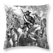 Texas: Mexican Filibusters Throw Pillow