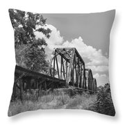 Texas Railroad Bridge Throw Pillow