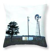 Texas Ranch View Throw Pillow