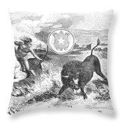 Texas Scene, 1855 Throw Pillow