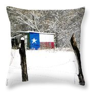 Texas Snow Throw Pillow