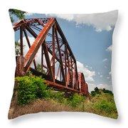 Texas Train Trestle 13984c Throw Pillow