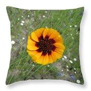 Texas Wildflower Throw Pillow