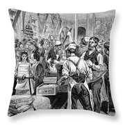 Textile Mill, 1881 Throw Pillow by Granger