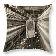 Textile Workers, 1909 Throw Pillow