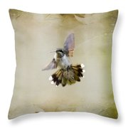 Textured Angel Throw Pillow