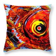 Textured Red Fish Throw Pillow