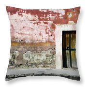 Textured Wall In Mexico Throw Pillow