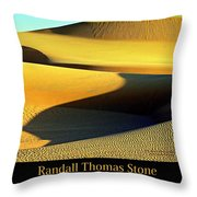 Textures In Sand - Melting Mesa Throw Pillow