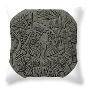 Tezcatlipoca And Huitzilopochtli Throw Pillow