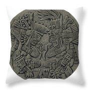 Tezcatlipoca And Huitzilopochtli Throw Pillow by Photo Researchers