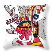Tezcatlipoca, Aztec God Of Night, Codex Throw Pillow by Photo Researchers