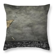 Th E Red Umbrella Throw Pillow by Empty Wall