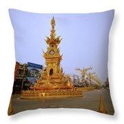 Thai Clock Tower  Throw Pillow