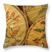 Thai Umbrellas 2 Throw Pillow