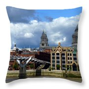 Thames River Panorama Throw Pillow