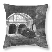 Thames Tunnel: Train, 1869 Throw Pillow